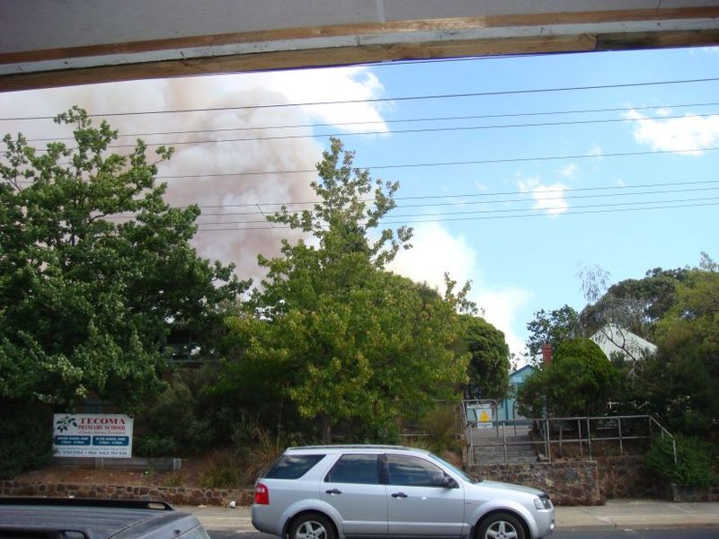 Smoke from Nixon Road Fire 23.2.09