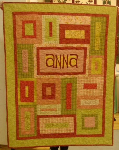 De's Quilt for Anna