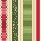 City Girl Holiday Ribbon Stripe