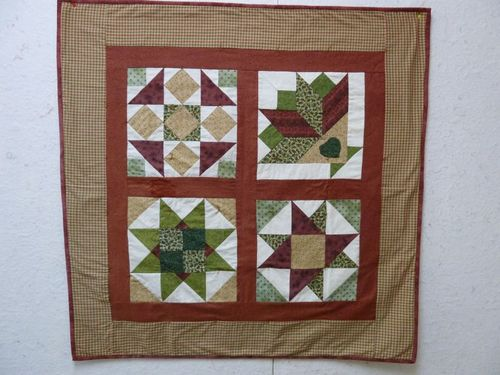 Jill's Handpieced tied quilt for her dad