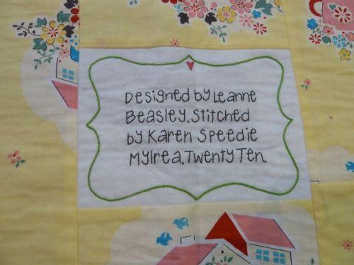 Karen Down in the Garden Label