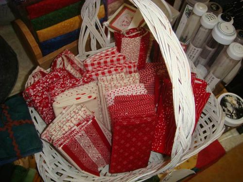 Red White fabric